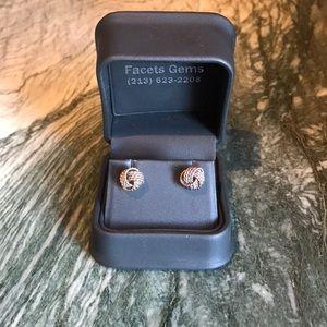 Tiffany Sterling Silver Knot Earrings